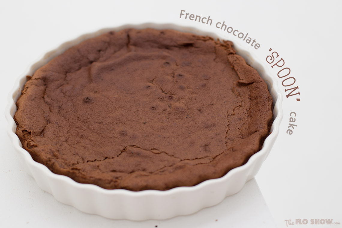 French chocolate spoon cake - super easy recipe on TheFloShow.com