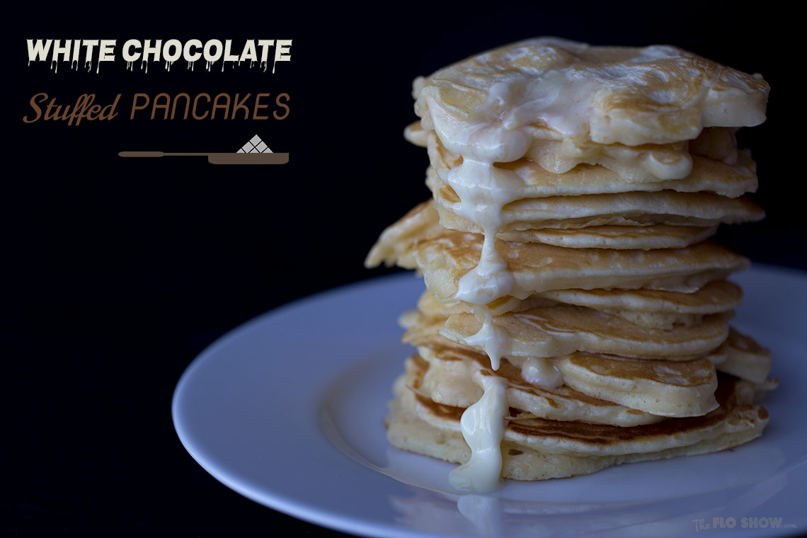 Absolutely magic white chocolate stuffed pancakes - cook with Nesle white chocolate www.TheFloShow.com