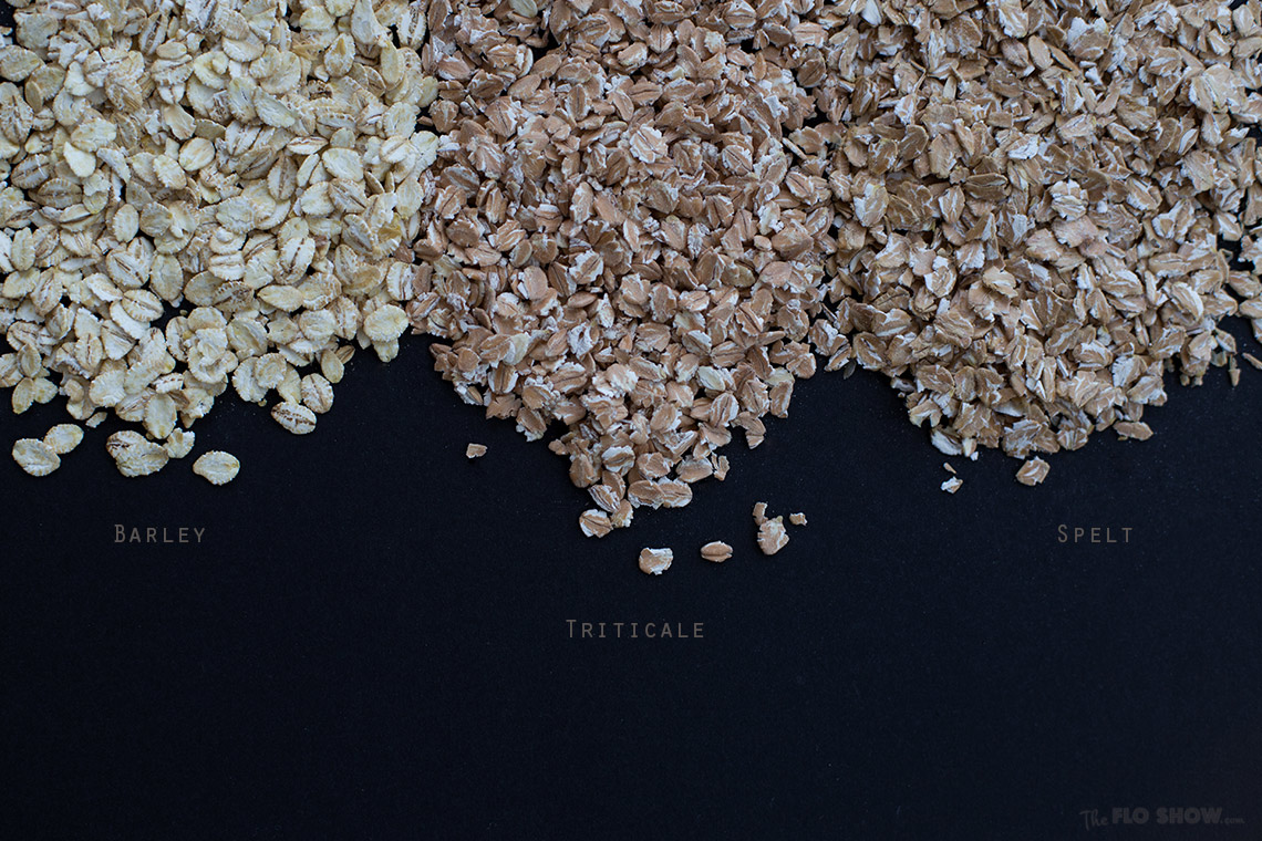 Make your own healthy muesli with rolled cereals on www.TheFloShow.com