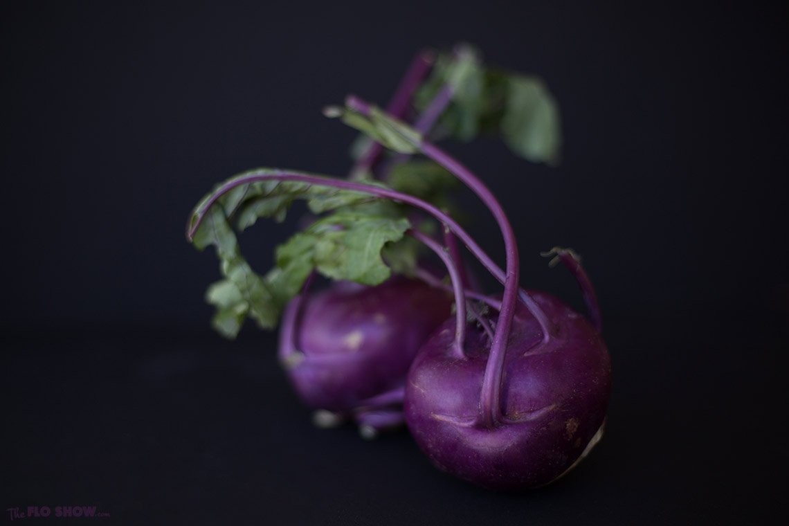 Purple Vienna Kohlrabi salad with thyme and chives on www.TheFloShow.com