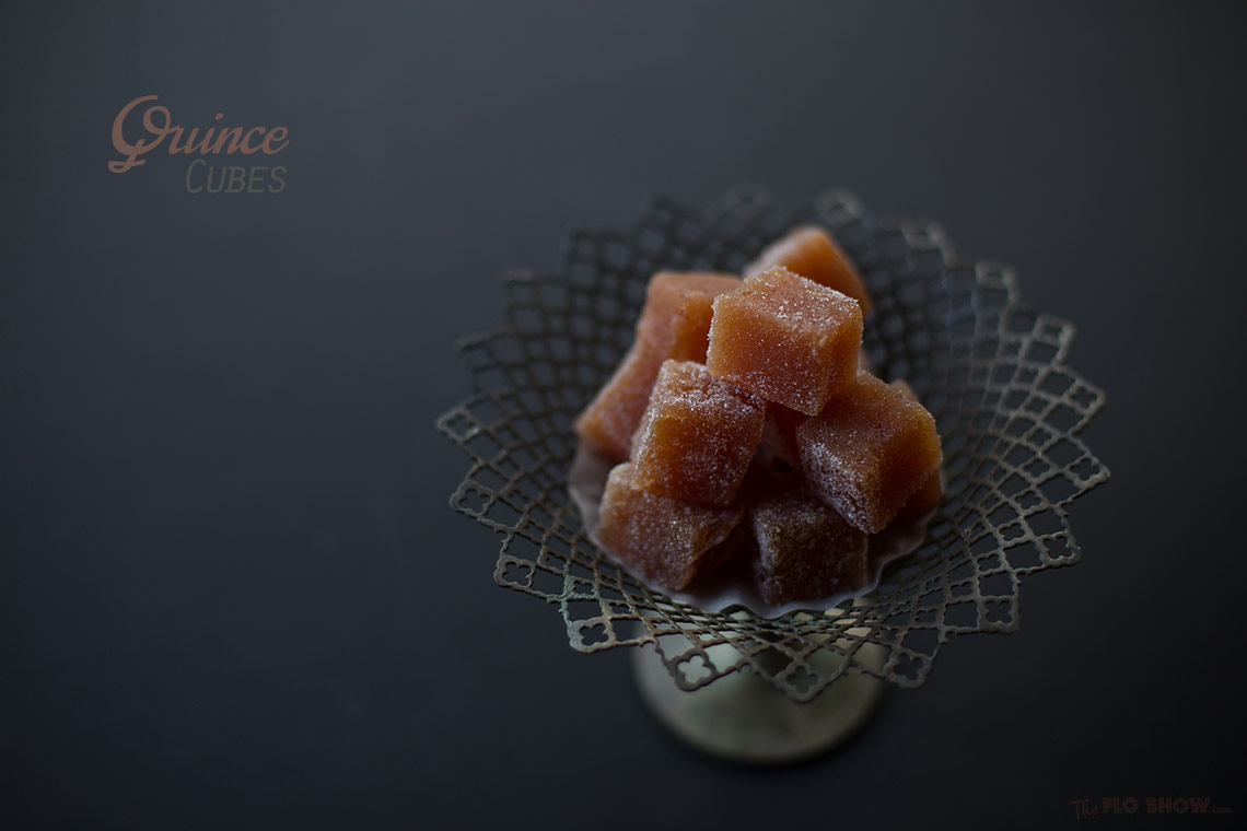 Quince cubes recipe - or pate de fruit - a wonderful sweet traditional from French countryside on www.TheFloShow.com