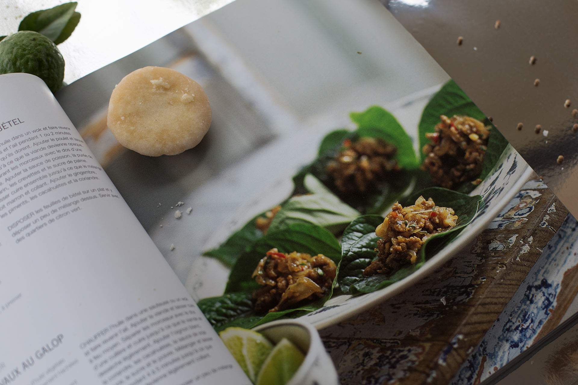 Thai Cook Book Review by TheFloShow.com betel leaf porc