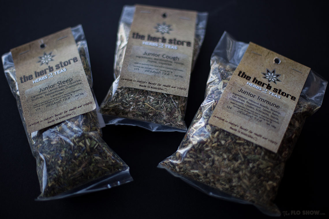 The herb store - herbal teas for kids and adults on www.TheFloShow.com
