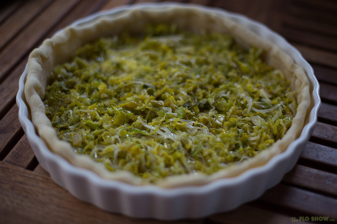 Leek quiche recipe easy and delicious on www.TheFloShow.com