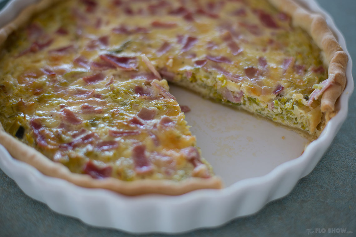 Leek quiche recipe - eat with a green salad on www.TheFloShow.com