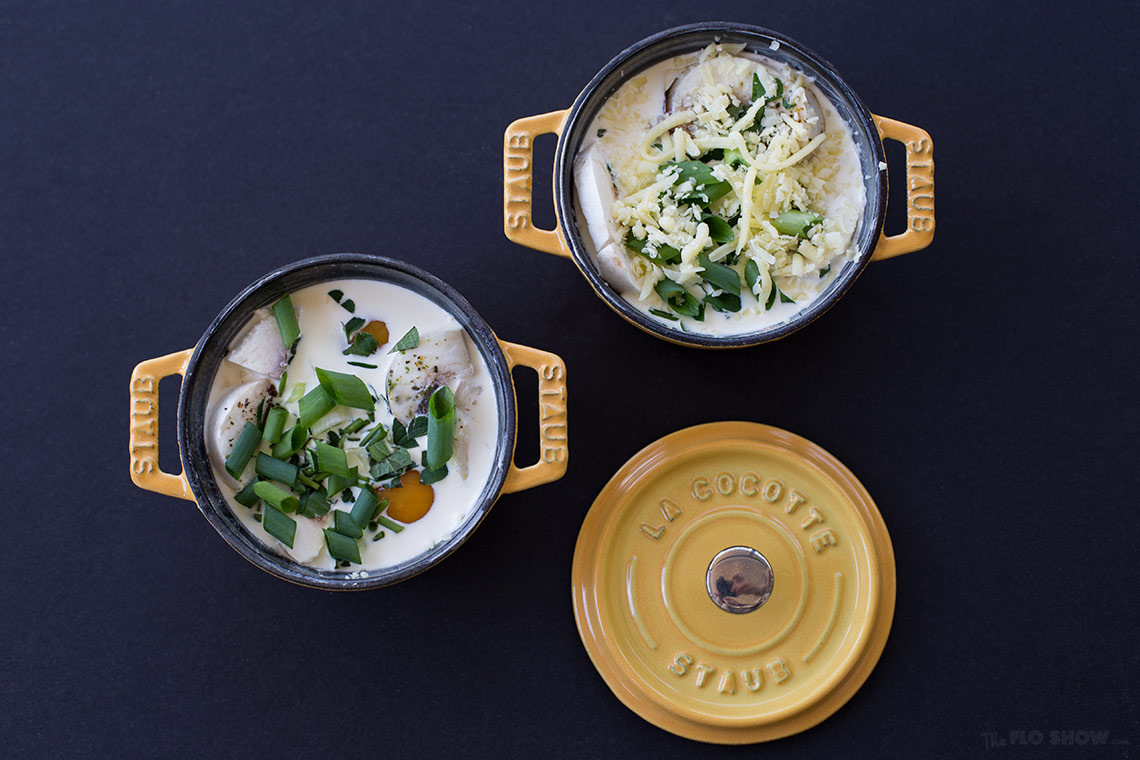 Eggs cocotte recipe - a French specialty on www.TheFloShow.com