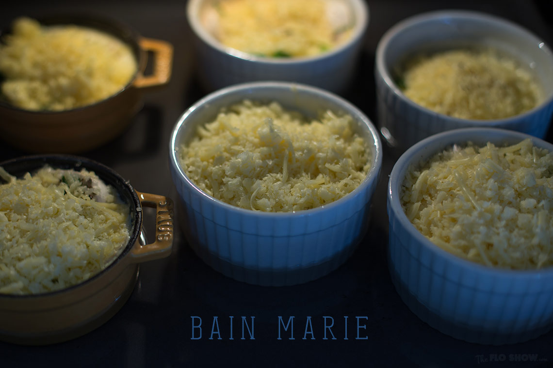 Eggs cocotte recipe - bain marie in the oven on www.TheFloShow.com