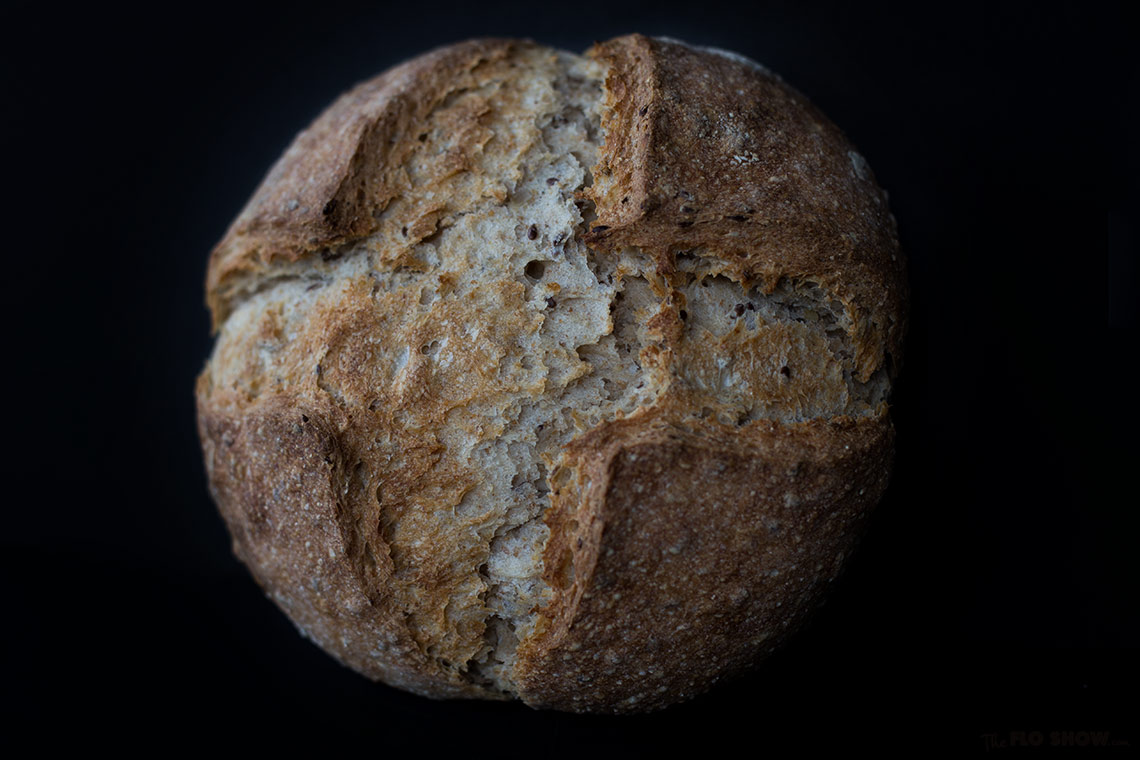 How to make your first home-made sour-dough bread from scratch - make the best French bread on www.TheFloShow.com
