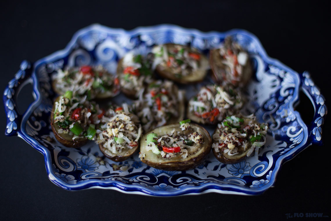 Secrets from my Indian family kitchen by Anjali Pathak - beautiful aubergines on www.TheFloShow.com .jog