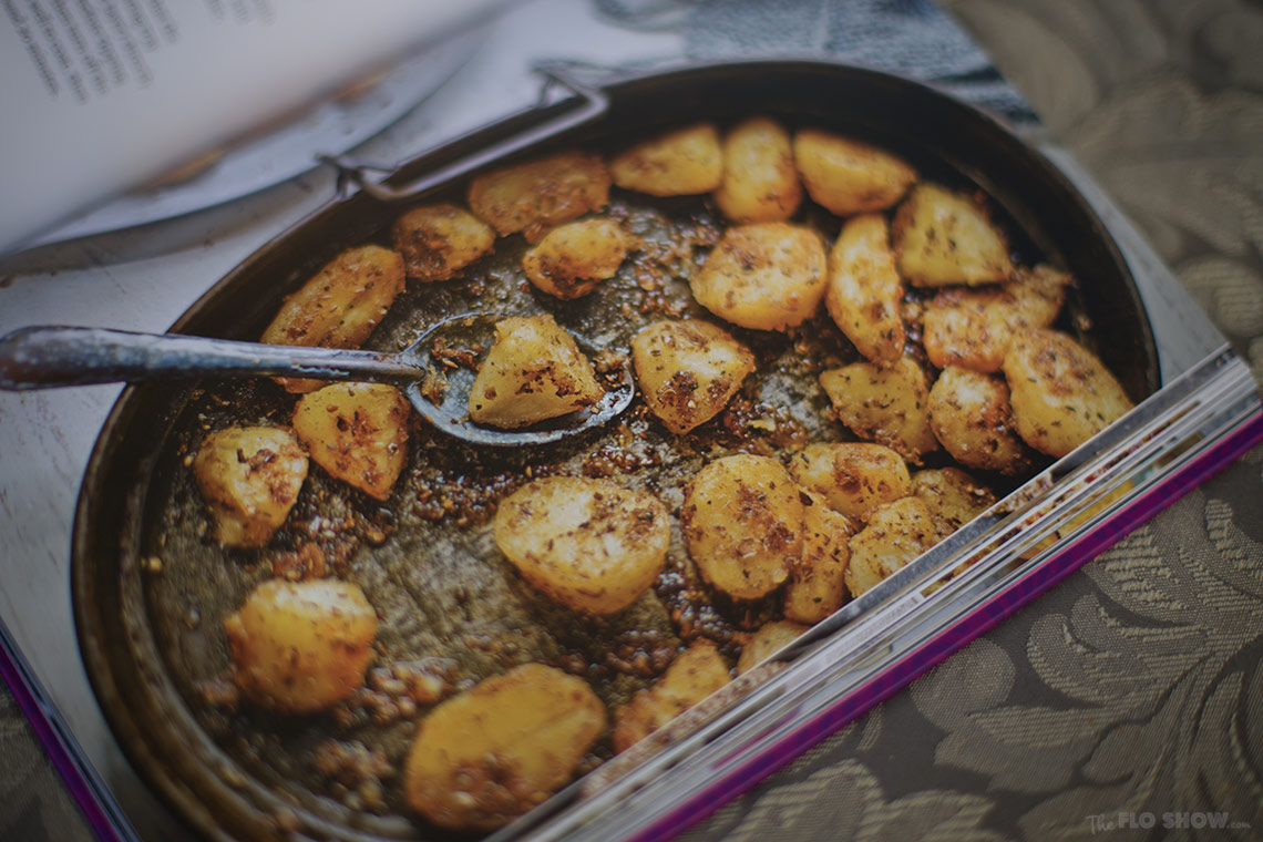 Secrets from my Indian family kitchen by Anjali Pathak - roast potatoes on www.TheFloShow.com .jog