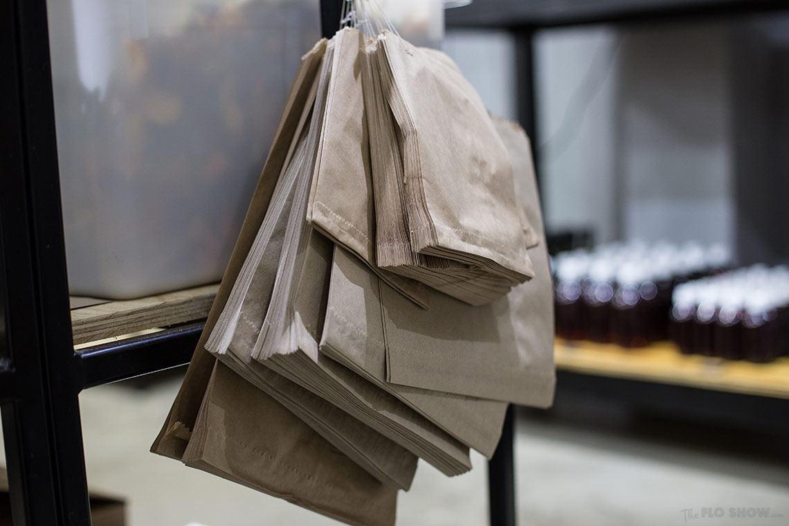 Store review - Naked Food in Newtown - bring you own container or buy a paper bag on www.TheFloShow.com