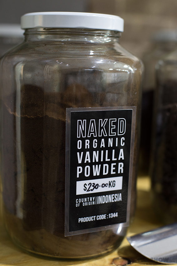 Store review - Naked Food in Newtown - bulk vanilla grains on www.TheFloShow.com