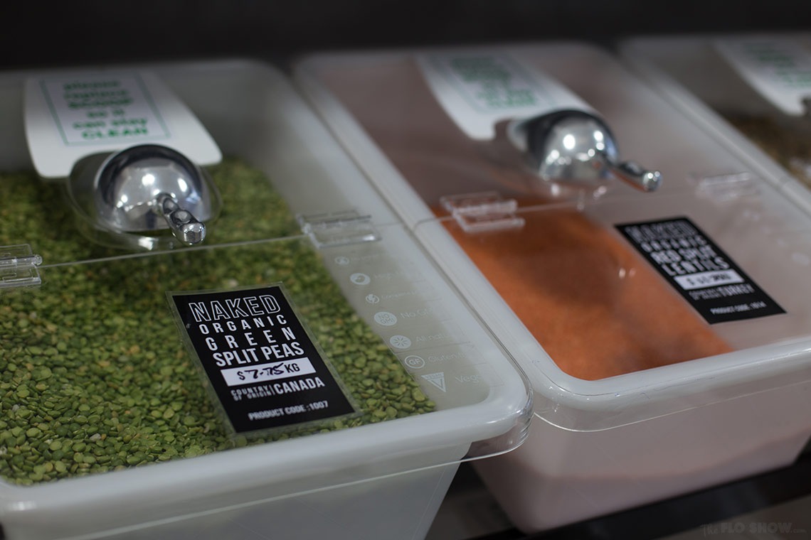 Store review - Naked Food in Newtown - colourful legumes in bulk on www.TheFloShow.com