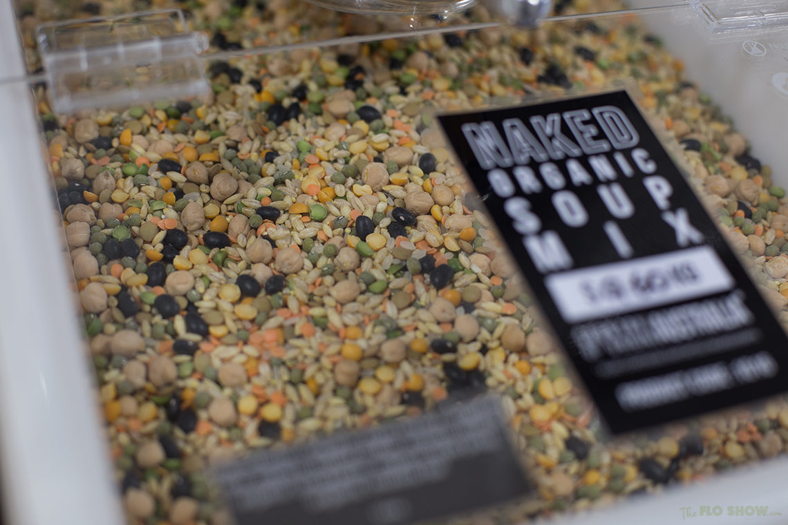 Store review - Naked Food in Newtown - organic soup mix - use the scoop on www.TheFloShow.com