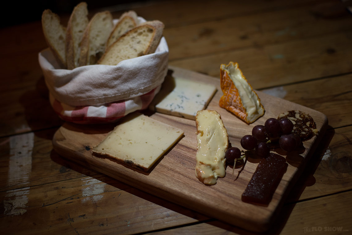 The Stinky Bishops in Newtown - amazing cheese platter on www.TheFloShow.com