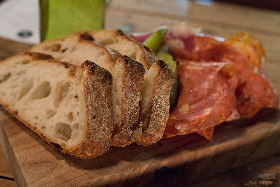 The Stinky Bishops in Newtown - candle lit cold meat or charcuterie platter on www.TheFloShow.com