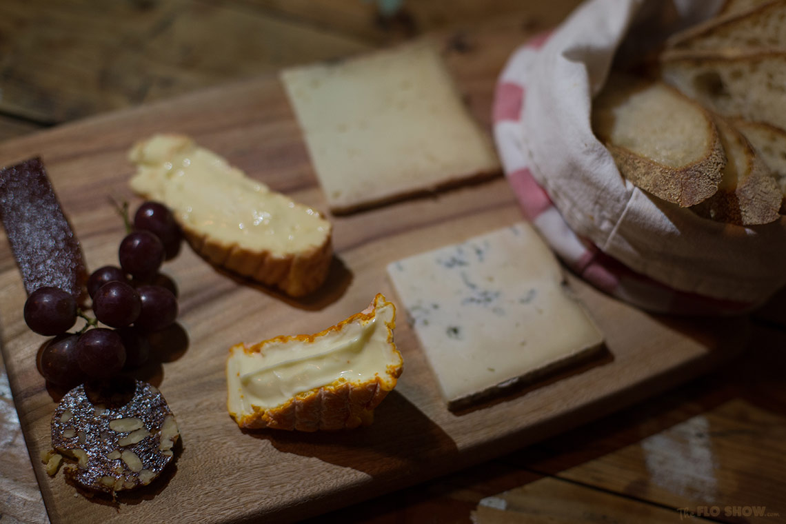 The Stinky Bishops in Newtown - what an amazing cheese platter on www.TheFloShow.com