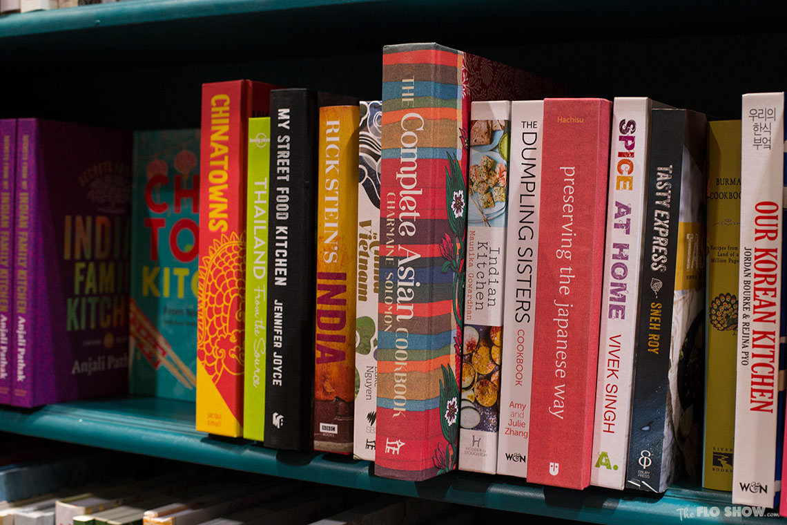 Bookstore review - Better read than dead in Newtown - Asian cookbooks on www.TheFloShow.com