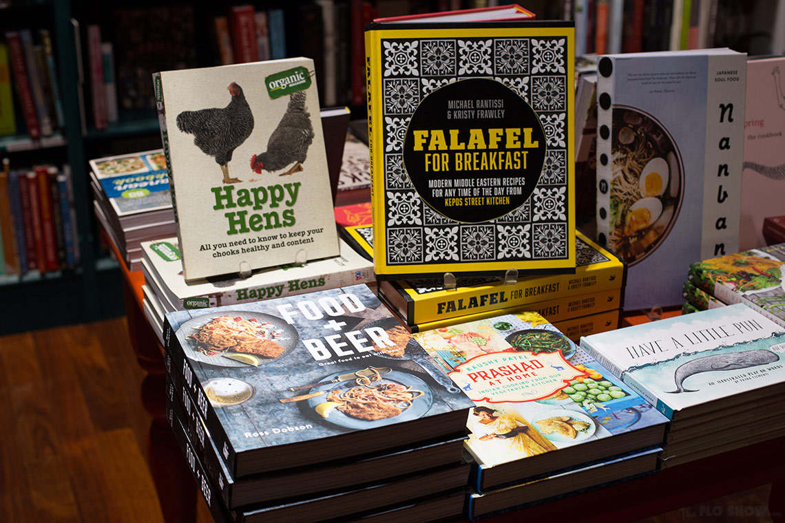 Bookstore review - Better read than dead in Newtown - amazing cookbook section on www.TheFloShow.com