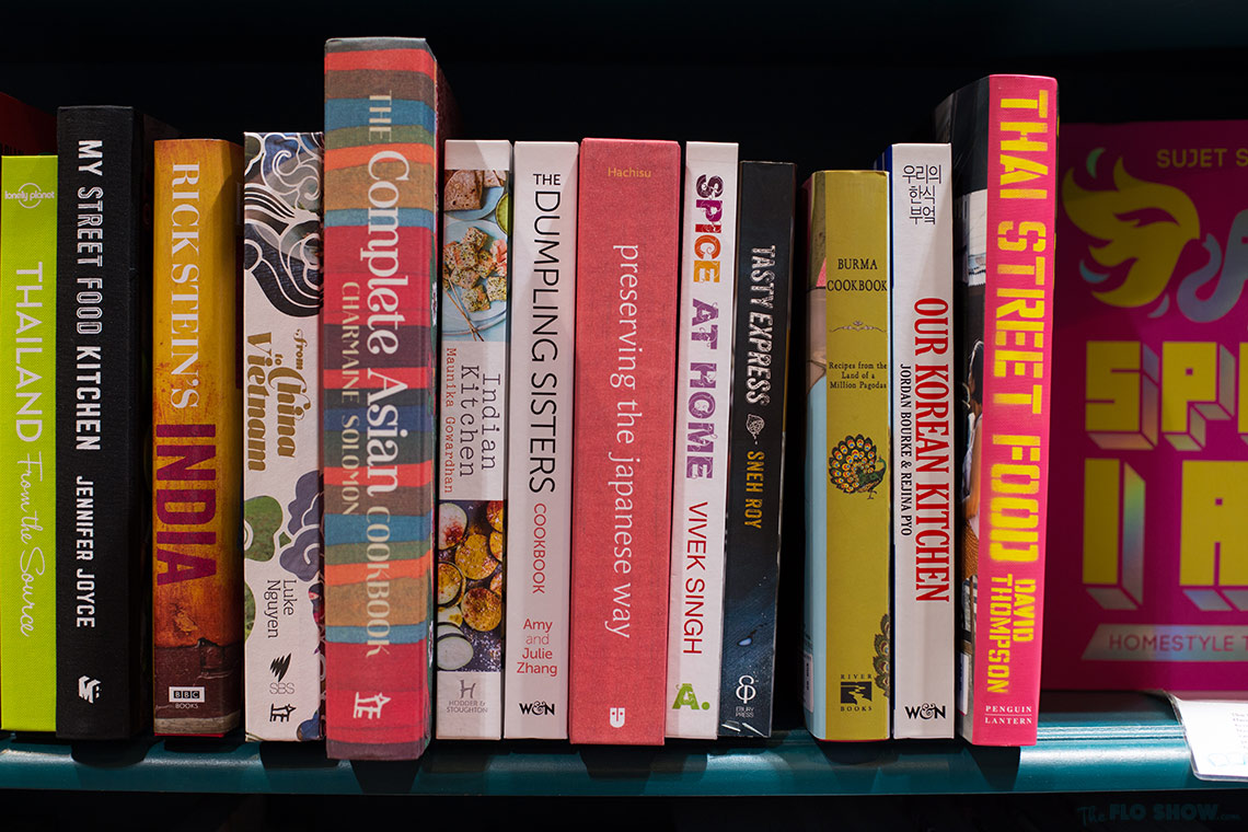 Bookstore review - Better read than dead in Newtown - fantastic Asian cookbooks on www.TheFloShow.com