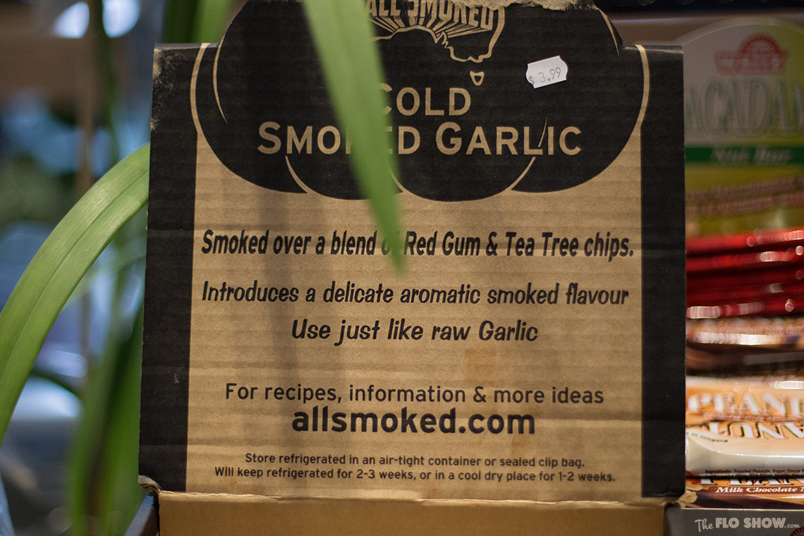 Cold smoked garlic on www.TheFloShow.com