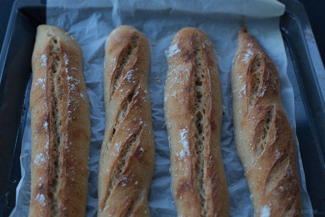 French sour-dough baguette recipe - feel in Paris at each bite on TheFloShow.com
