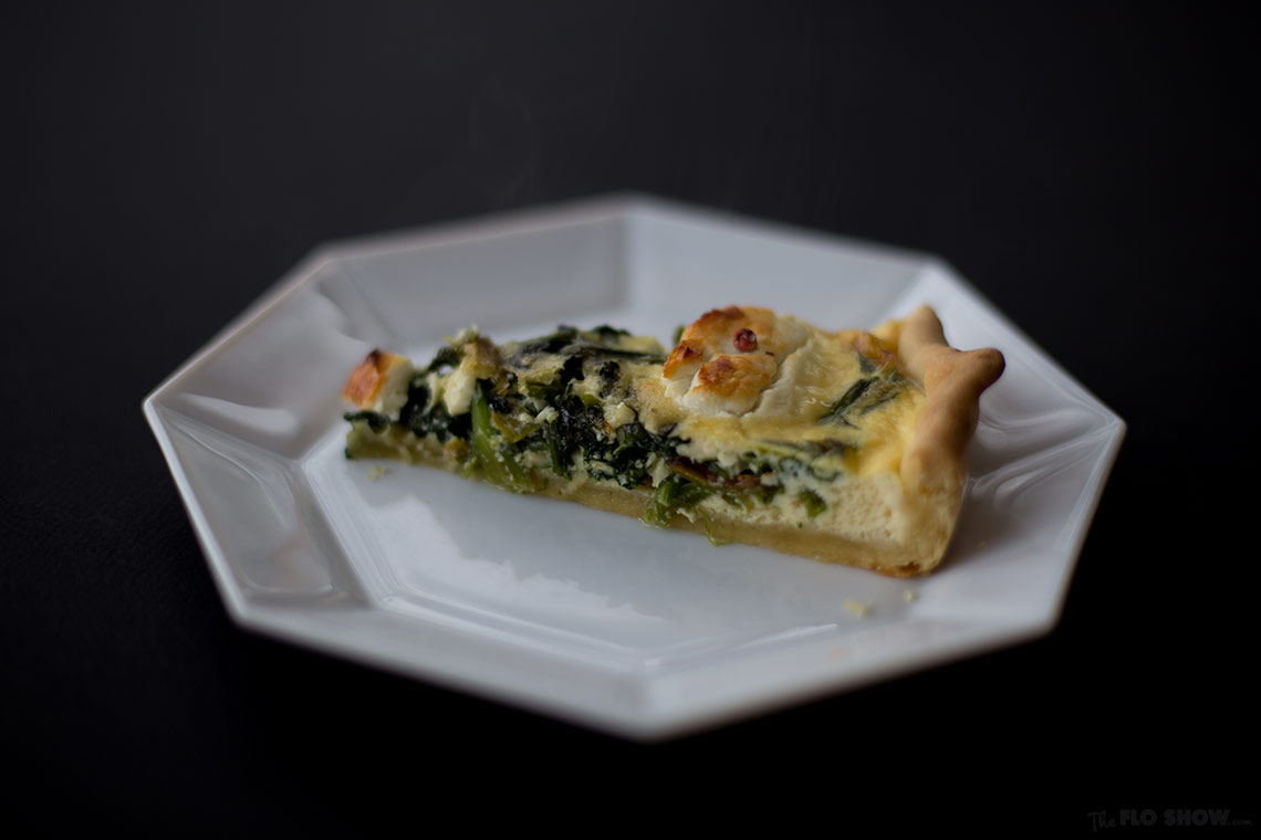 Goat cheese and spinach tart - bite in on www.TheFloShow.com