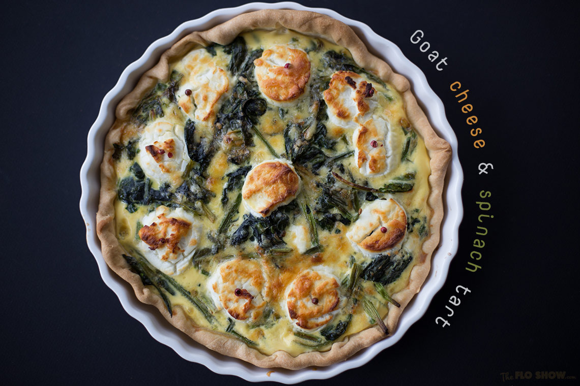 Goat cheese and spinach tart - fantastic vegetarian tart on www.TheFloShow.com