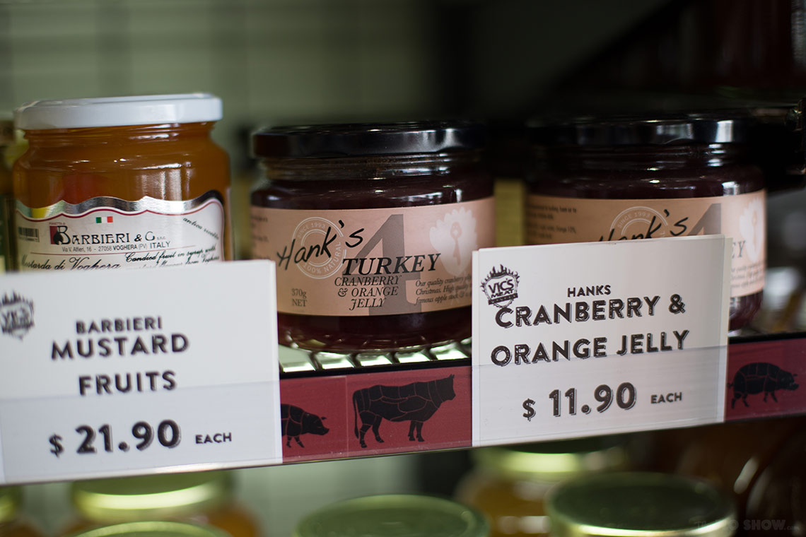 Vic's Meat Market in Sydney - Cranberry and orange jelly for meat - on www.TheFloShow.com