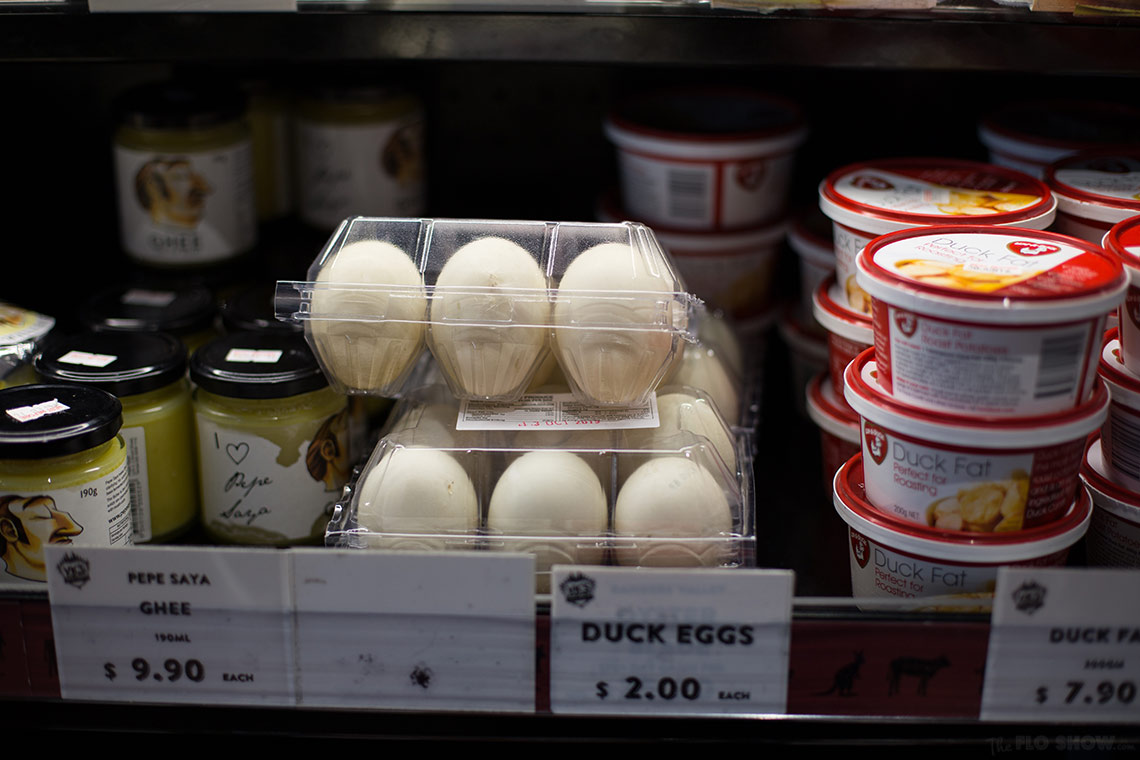 Vic's Meat Market in Sydney - duck eggs - on www.TheFloShow.com