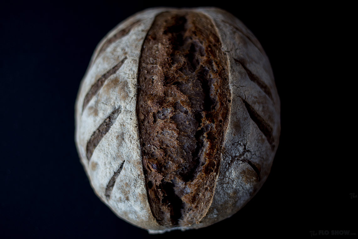 Walnut boule sour-dough bread on www.TheFloShow.com