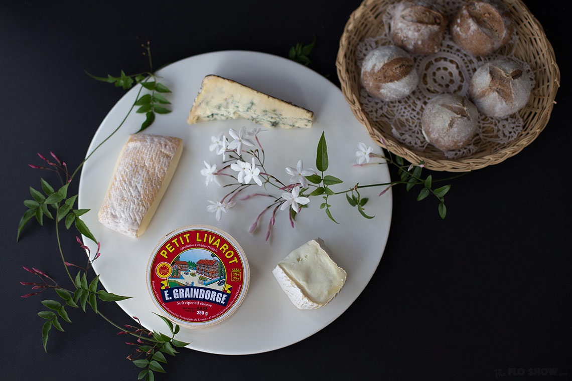 A gorgeous cheese platter from Blackwattle Deli at the Fish markets in Sydney - for tasty pre-dinner drinks on www.TheFloShow.com