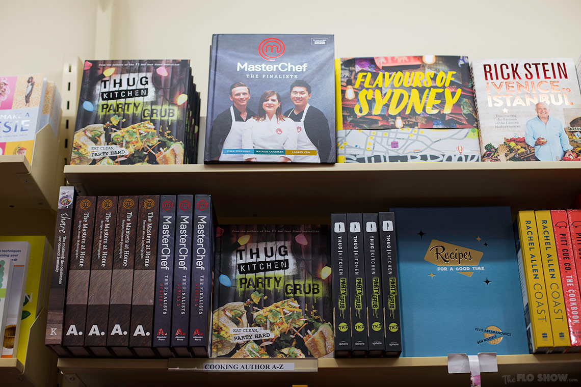 Bookstore review - Dymocks at Broadway Shopping Centre  - the MasterChef cookbook collection on www.TheFloShow.com