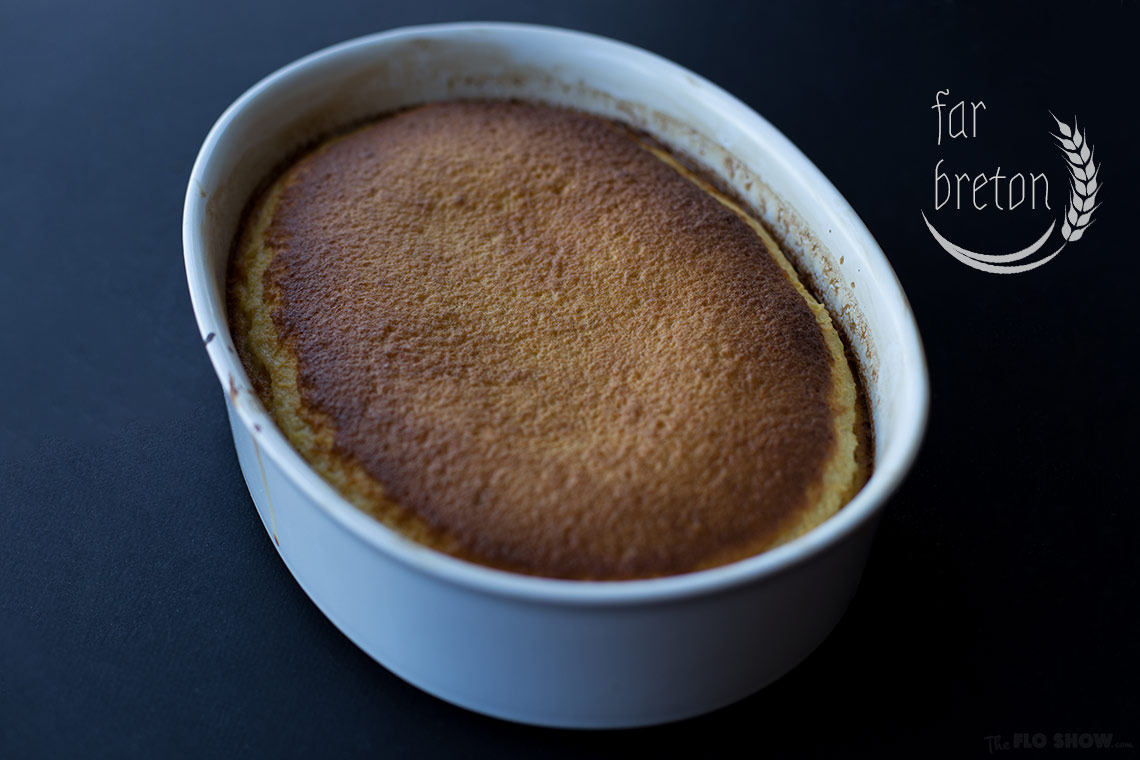 Far Breton recipe - a magic cake with prunes and rum - a great French classic - on www.TheFloShow.com