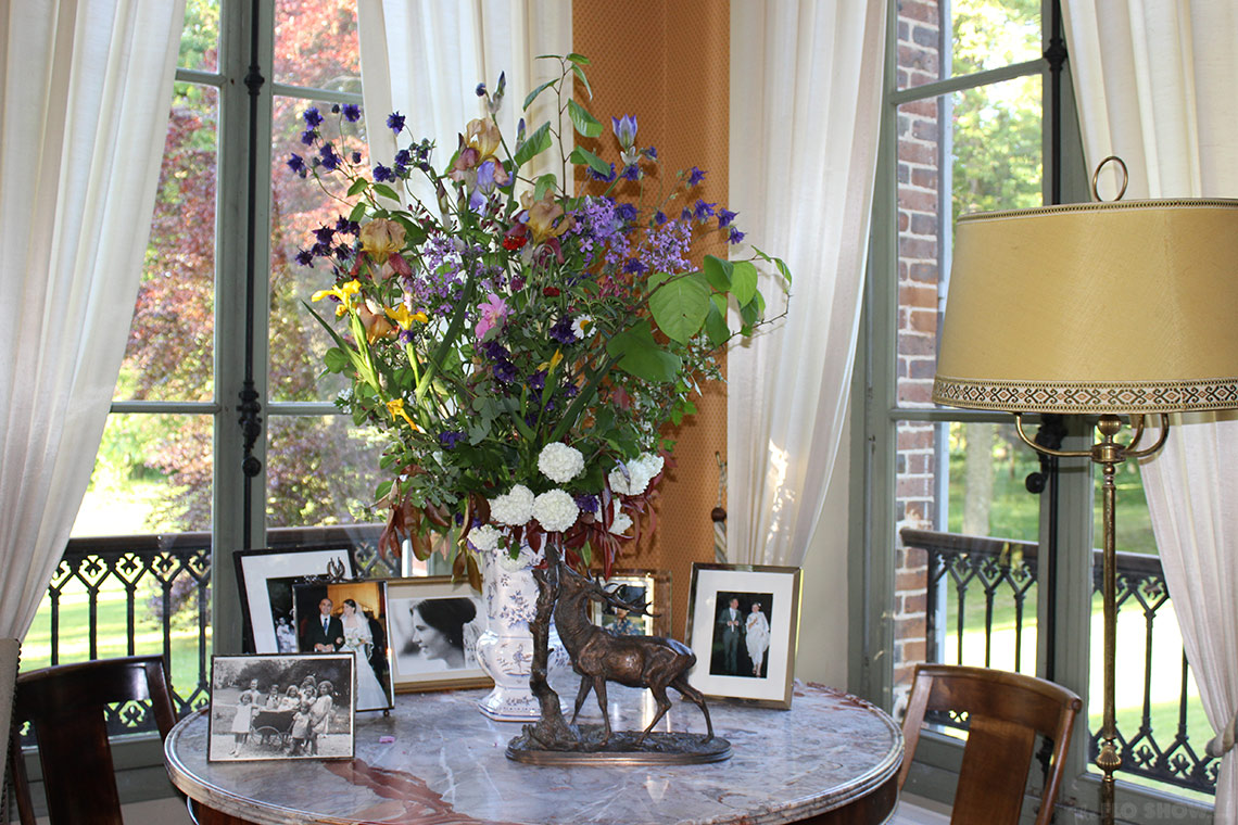 Home in Burgundy - my parents' home - mum's bouquets www.TheFloShow.com