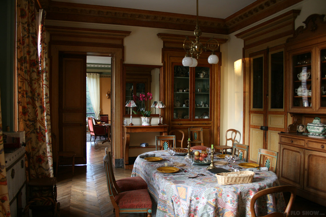 Home in Burgundy - my parents' home - the dining room www.TheFloShow.com