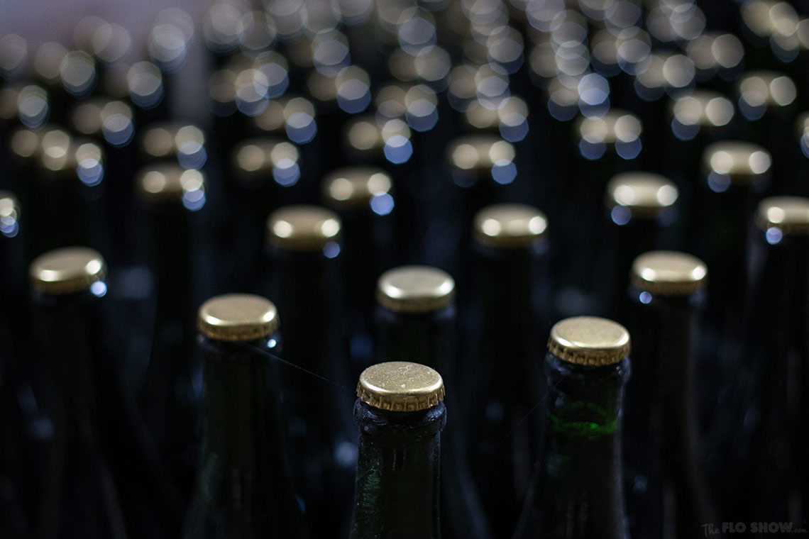 Home in Burgundy - my parent's house - Dad's 300 bottles of cider production www.TheFloShow.com