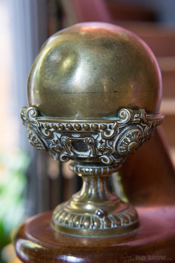 Home in Burgundy - my parent's house - stair ball www.TheFloShow.com