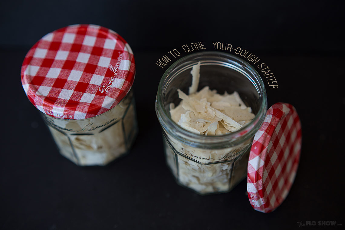 How to clone sour-dough bread starter or levain - Easy step by step instructions - on www.TheFloShow.com