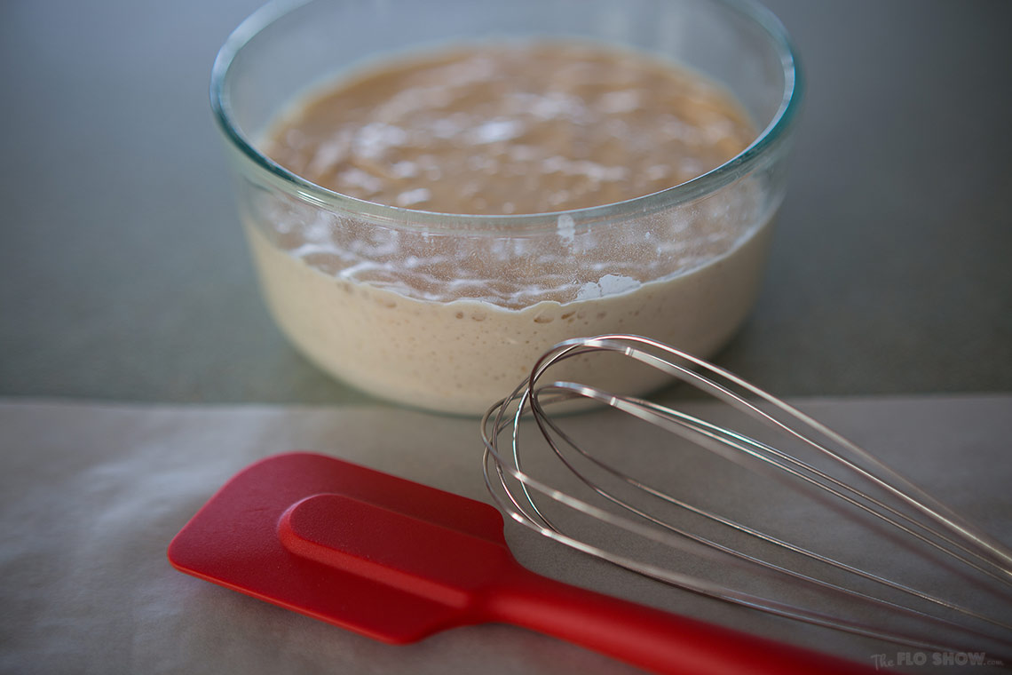 How to clone sour-dough bread starter or levain - Simple instructions - on www.TheFloShow.com
