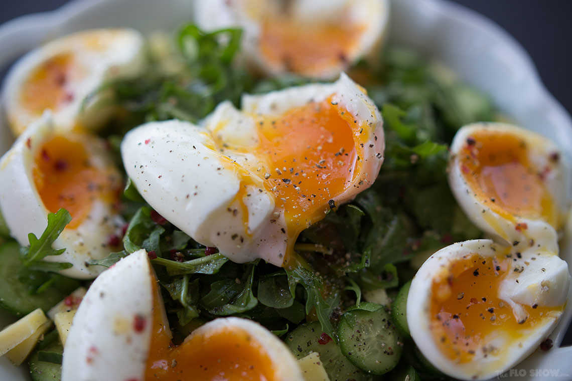 Lunch idea N3 - soft eggs cucumber salad - good and easy - on www.TheFloShow.com