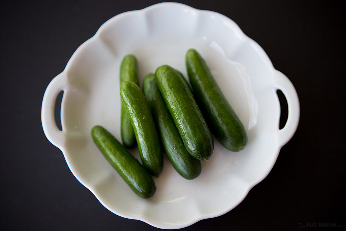 Lunch idea N3 - soft eggs cucumber salad - use Lebanese uumber is better - on www.TheFloShow.com