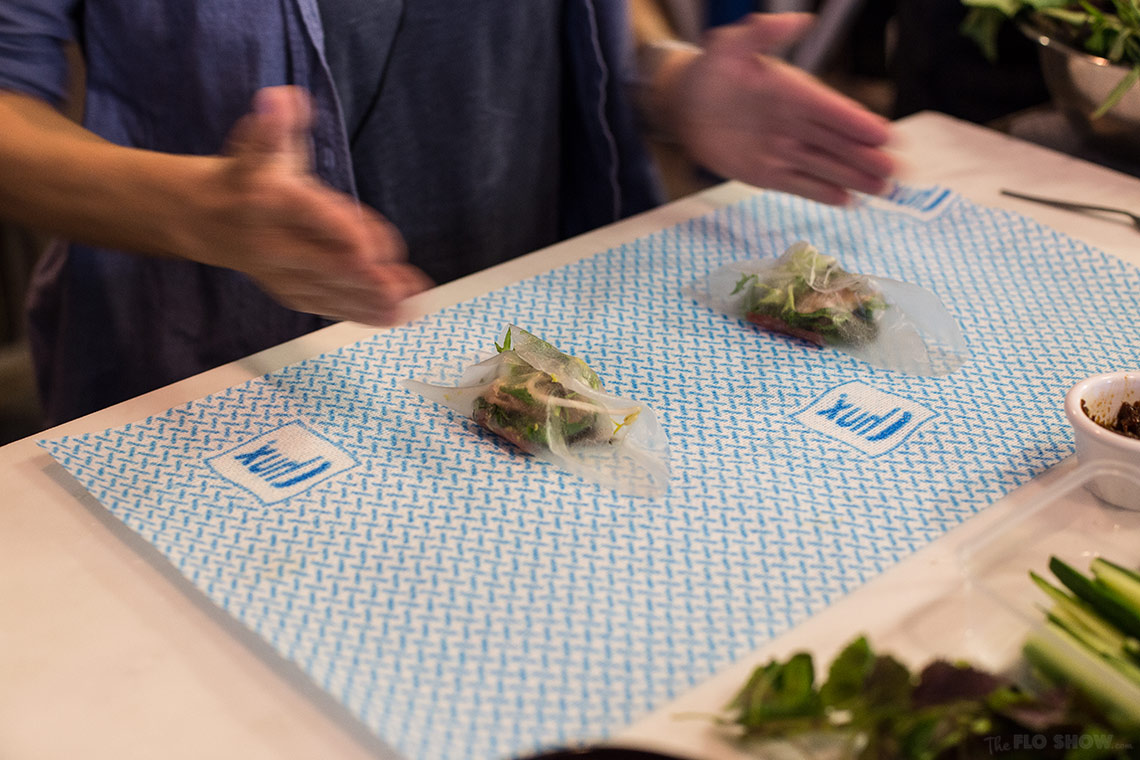 Miss Chu tuckshop - rice paper roll class in Sydney - delicious recipe unveiled such as raw tuna -  on www.TheFloShow.com