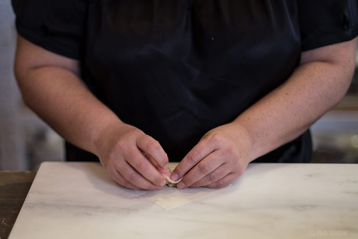 Miss Chu tuckshop - rice paper roll class in Sydney - learn how to roll weat and rice paper - on www.TheFloShow.com