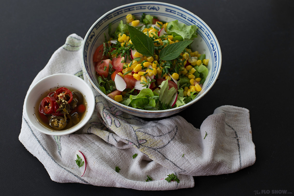 Pineapple sage salad recipe - simple and delicious on www.TheFloShow.com