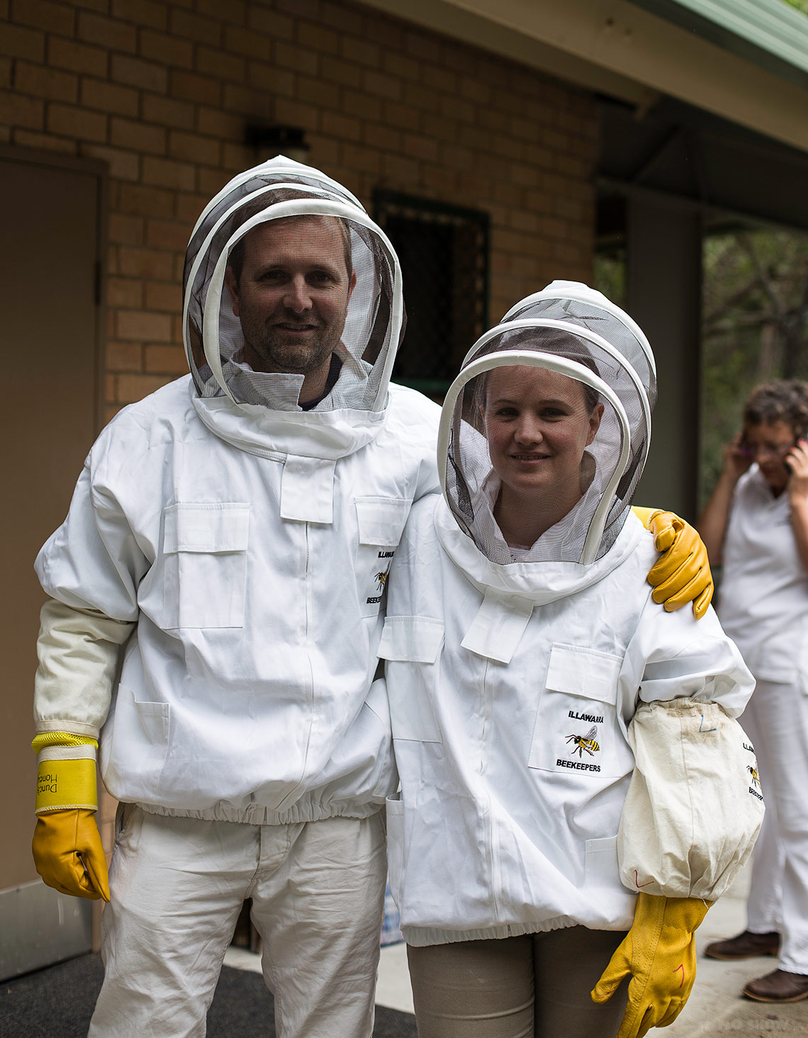 Bee course with the Illawarra Beekeepers Association - Wendell and I ready to learn - on www.TheFloShow.com