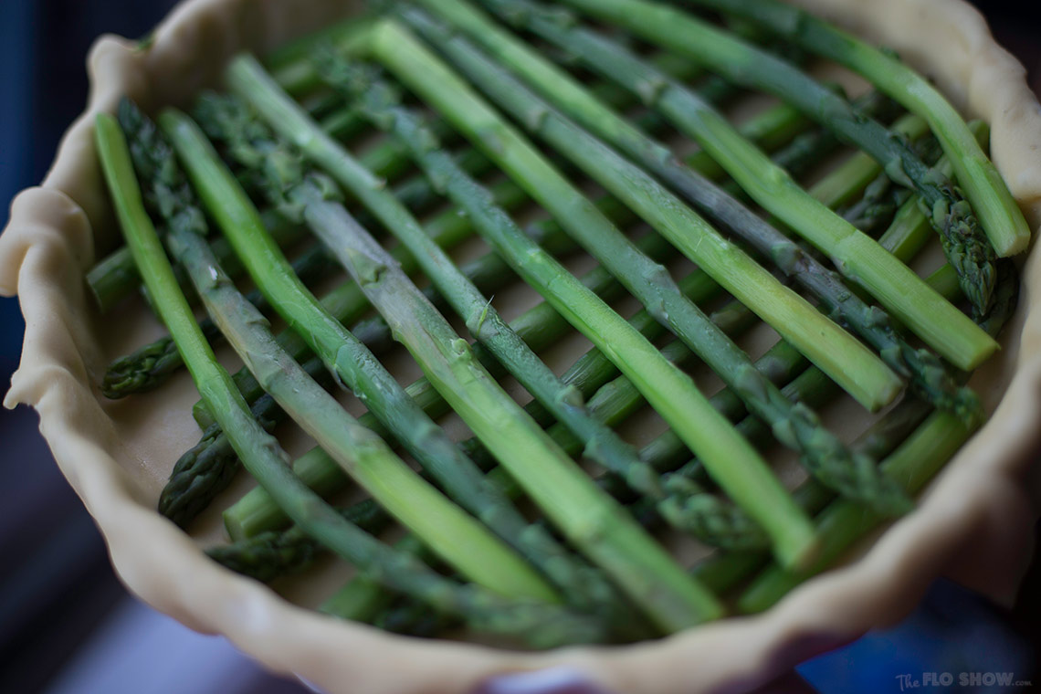 Simple French Asparagus Quiche recipe - nearly woven on www.TheFloShow.com