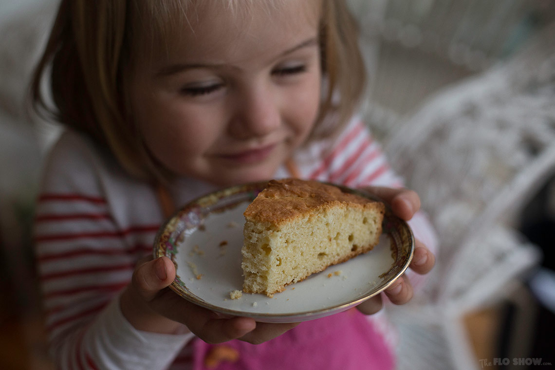 The first cake you make with your child - A simple French Yogurt Cake - on www.TheFloShow.com