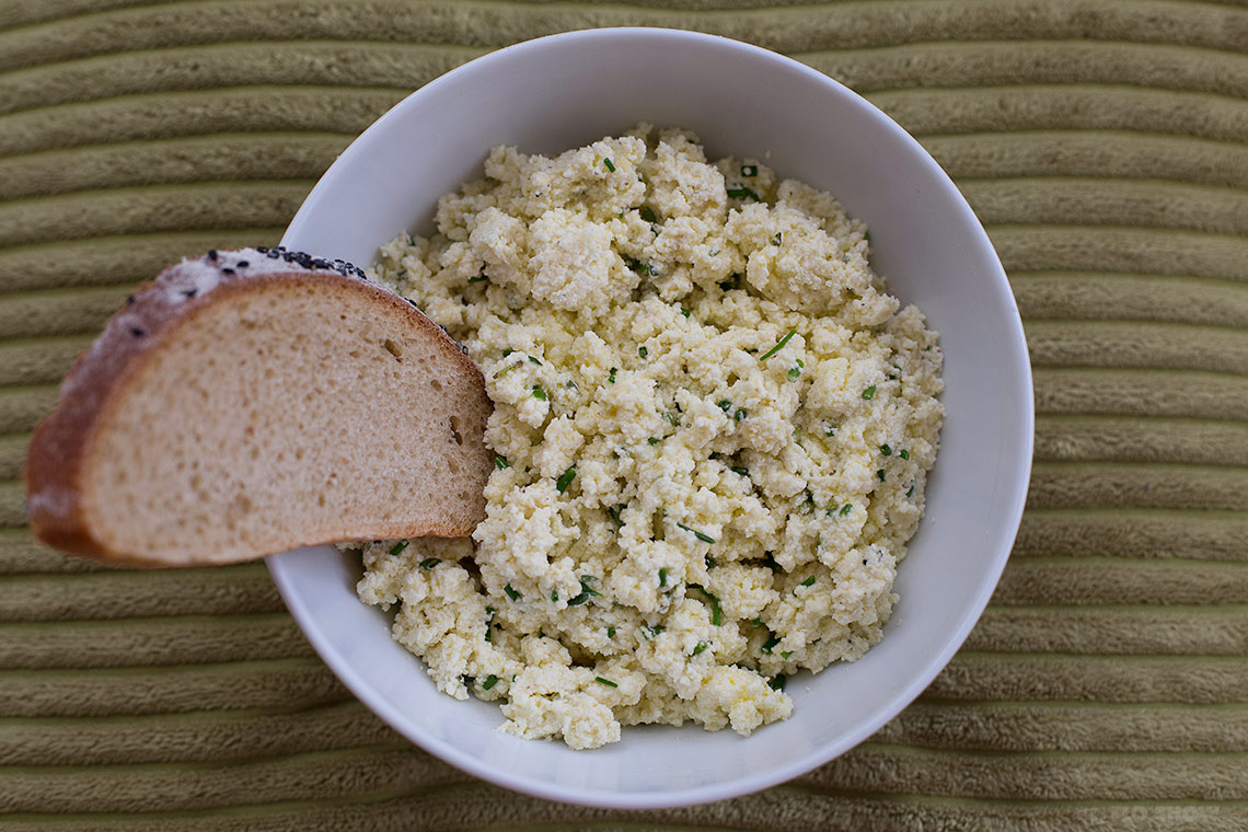 Homemade ricotta and blue cheese spread - eat with a good sourdough bread on www.TheFloShow.com