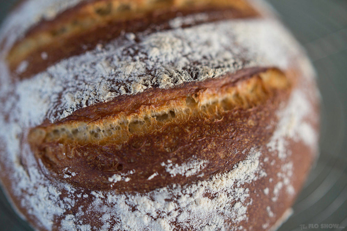 Whey sourdough bread recipe - delicious on www.TheFloShow.com